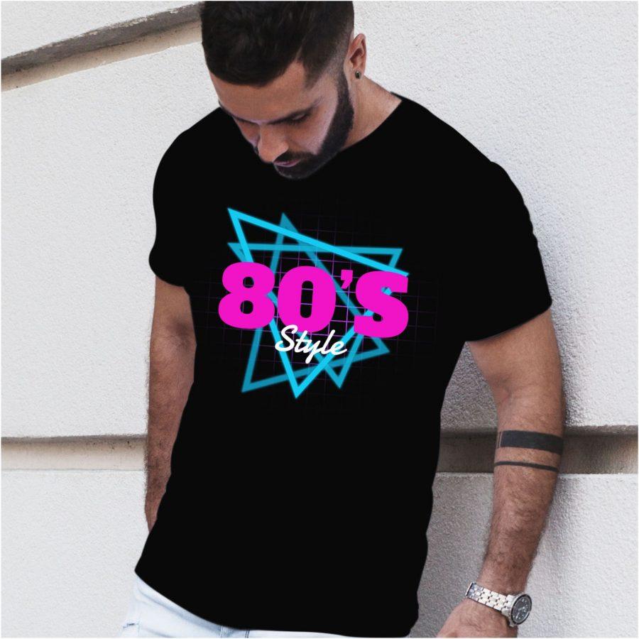 Tricou barbat 80's negru