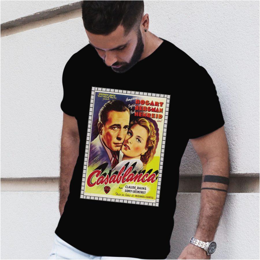 Tricou barbat Casablanca negru