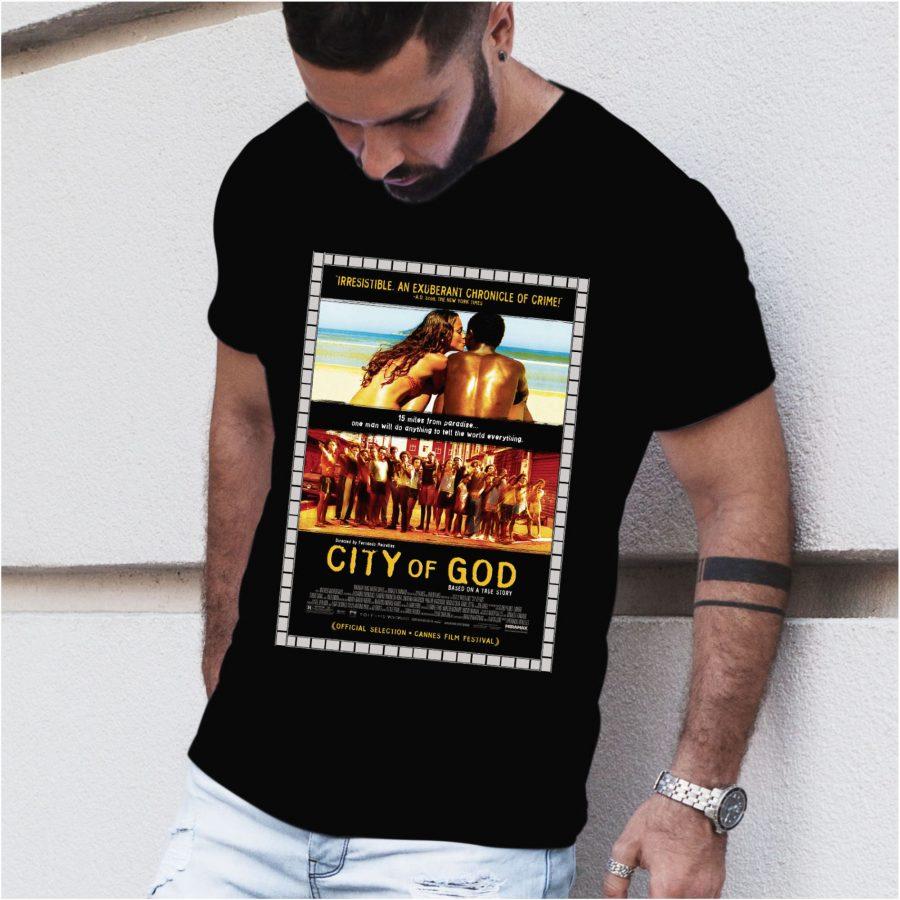 Tricou barbat City of God negru