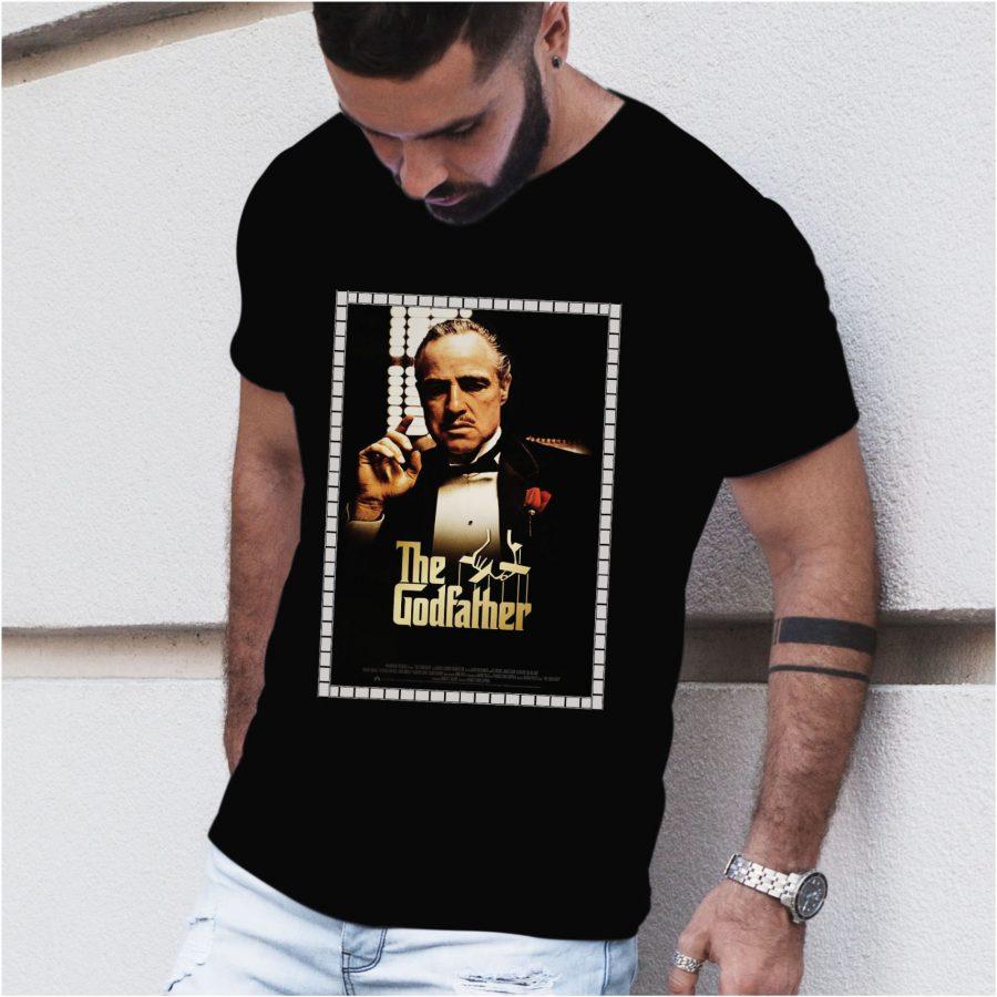 Tricou barbat Godfather negru