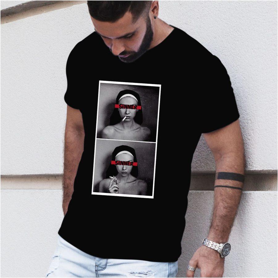 Tricou barbat SinNun negru