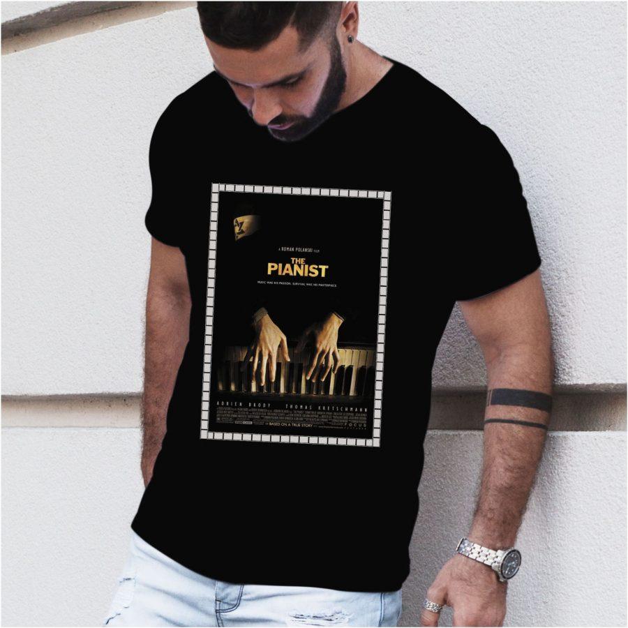 Tricou barbat The Pianist negru