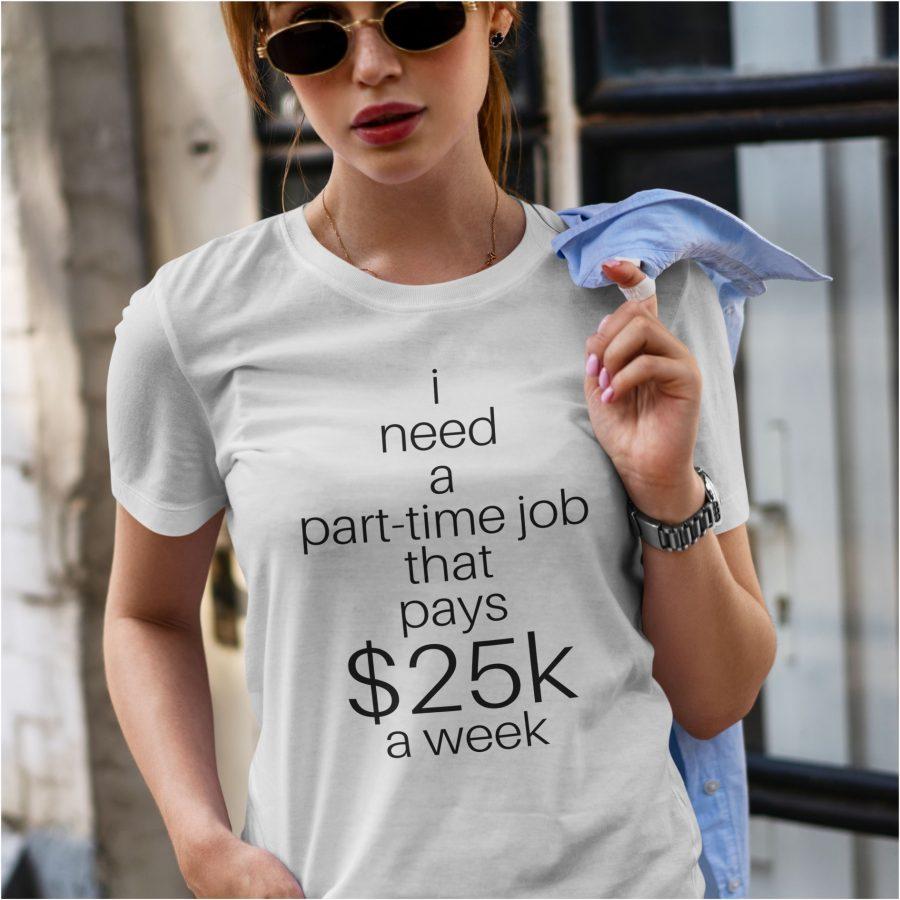 tricou personalizat alb 25K dama