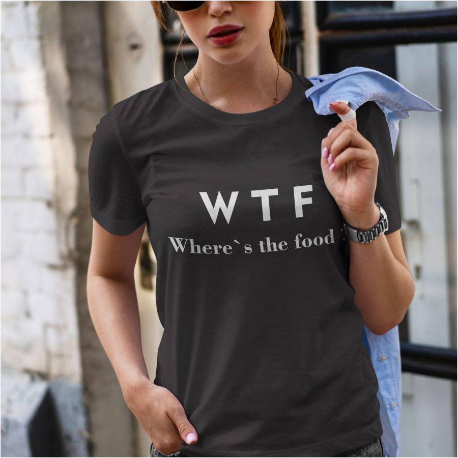 Tricou dama negru wtf