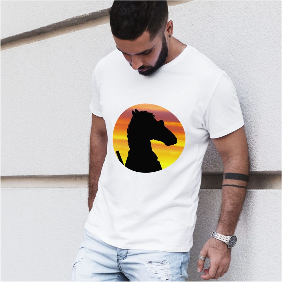 tricou alb barbat personalizat Bojack Horseman