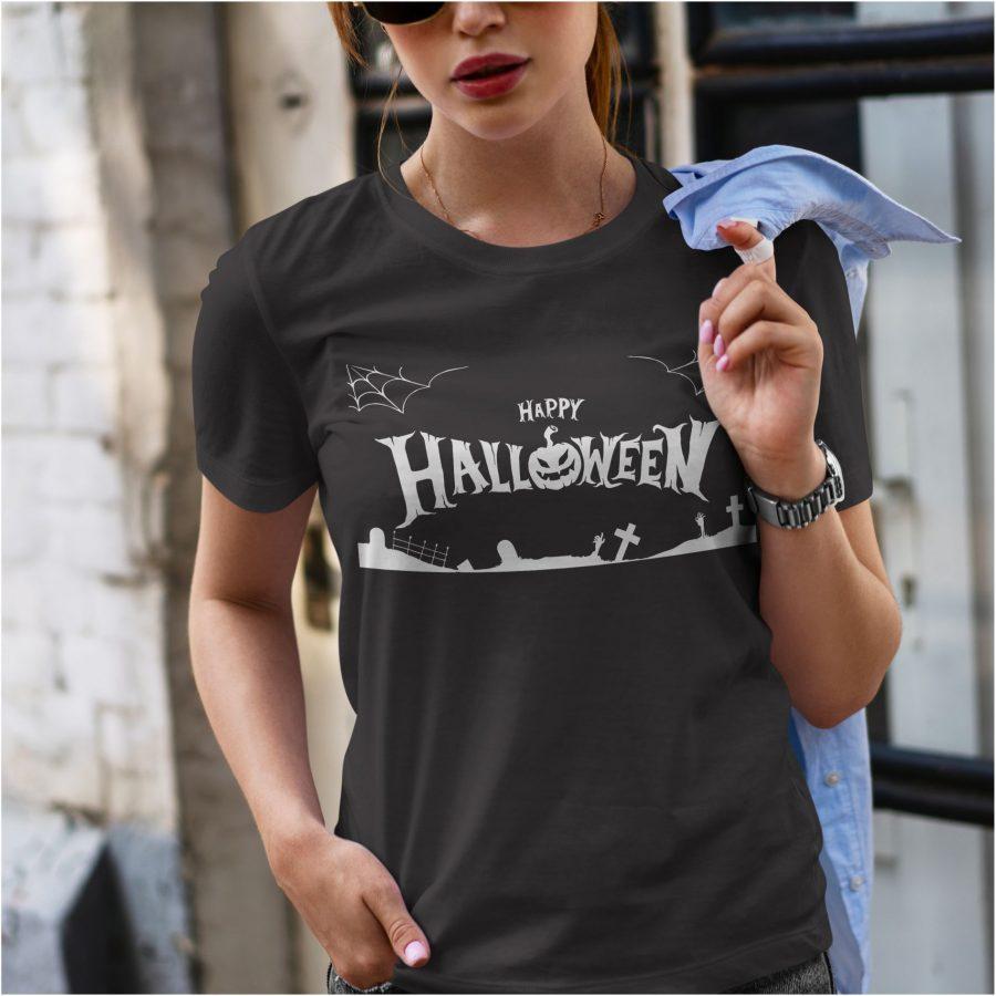 Tricou dama negru halloween
